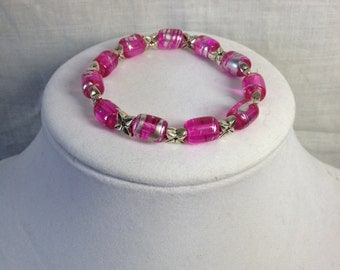 Bracelet - Pink and Silver
