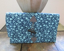 Blue and white floral clutch, cotton, handbag, purse, wallet, pouch, pocketbook, satchel, tote, matching, birthday, fourth of july, gift mom
