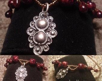Romantic handmade necklase