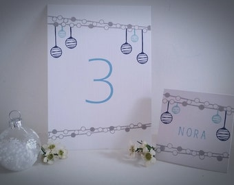 Christmas Lights-  5/pack-Place Cards and  2/pack-Table Numbers