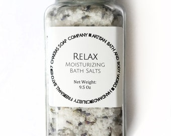 Dead Sea Bath Salts with Lavender Flowers - with moisturizing oils - Natural