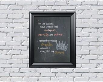 Quotes, I Straighten My Crown