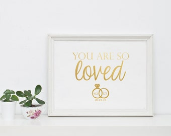 Gold foil print, Anniversary gift, Wedding gift, Engagement gift, Love quote print, Love quotes wall art, Custom print quote, Gold print