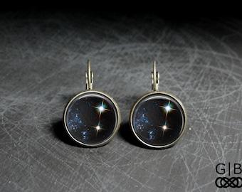 Celestial Earrings Star Dangles Jewelry - Celestial Body Earrings Star Jewelry - Celestial Dangles Star Earrings - Celestial Jewelry Dangles