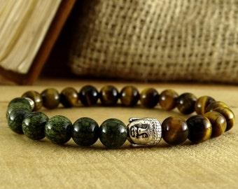 Buddha Bracelet Mens Jewelry Yoga Bracelet Mens Gift Reiki Jewelry Mens Bracelet Energy Jewelry Tiger Eye Bracelet Meditation Jewelry Beaded