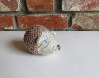 Soft Brown Hand Knitted Hedgehog
