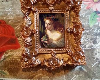 Fairy Princess Framed Portrait Brooch