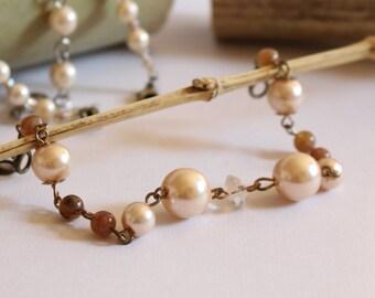 2-way Pearl Haori Chain Bracelet - Kimono Haori Accessory