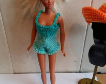 Barbie swimsuit hand knitted
