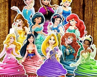 PRINTABLE Disney Princess Cupcake Toppers / Classic & New Princess's / Instant Download / Printable Party Favors