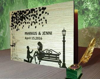 Rustic Wedding Guest Book  /  Guest Book Wood /  guest book alternative /  guest book wedding