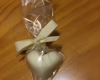 65 mini heart soaps lavender