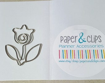 1 Large Flower Bookmark or Paper Clip Tulip