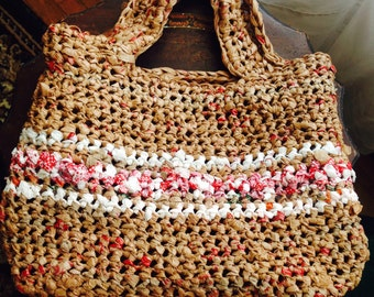Crochet Plarn Bag 100% Recycled Material