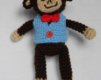 Manny the Monkey - crochet amigurumi stuffed toy