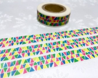 10M triangle patterns washi tape classic traditional masking tape cool Jacquard Pattern colorful sticker tape deco tape gift wrapping tape