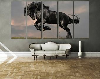 Horse Photography Canvas Print Wall Art / Western Horse Decor Giclee Fine Art Canvas Print Nature Photography Wall Art Stallion Wall Art