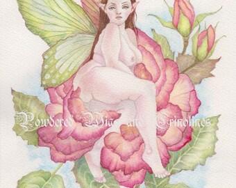 Faerie Art, Rose Faerie, Roses, Fairies, Faerie Garden