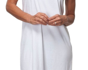 Tranquil Tank Dress in White (3521)