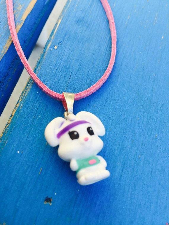 Squishy Bunny Etsy : Squishy bunny mini figure necklace by TwoBoysToyz on Etsy