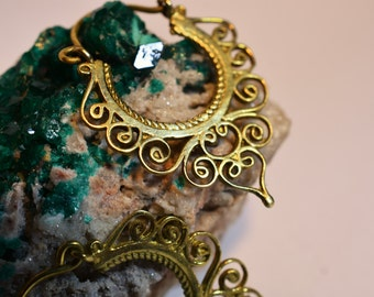 """Brass Earrings """"Gypsy Princess"""""""