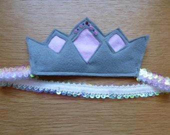 Pretty pink princess tiara