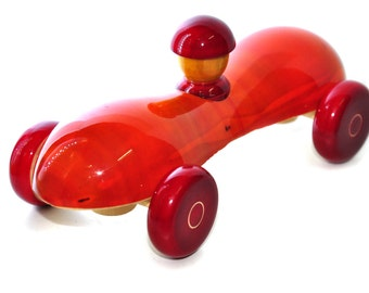 """Wooden Toy - Wooden Car - """"Classic Car"""", Push Toy for Babies, Toddlers and Preschool,Eco Friendly,Baby Gift"""