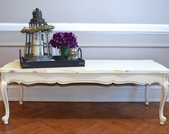 SOLD: Shabby Chic Wood Coffee Table