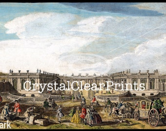 A View of the Royal Carriage at Versailles, France Giclee Art Print