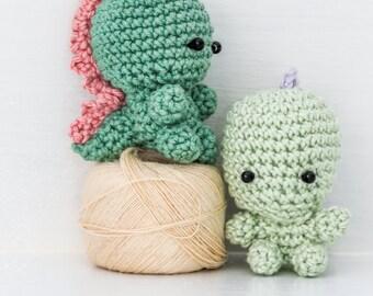 Teeny tiny dinosaur crochet pattern
