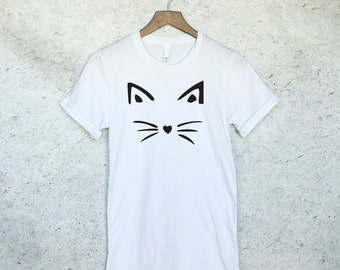 Funny Cat Shirt Face Tee - Crazy Cat Lady - Cat Shirts - Kitten Shirt - Cat Lover - Meow Shirt - Cat T Shirt - Tank Top - Gift For Cat