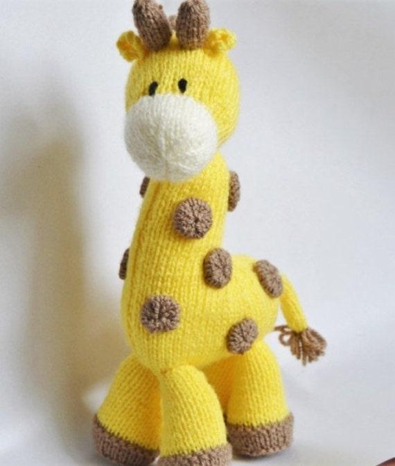 Knitting Pattern Toy Giraffe : Giraffe Knitting Pattern Giraffe Knit Pattern Giraffe Toy