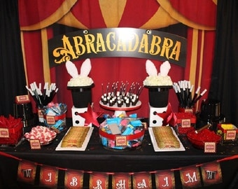 Circus Table or Photo Booth Backdrop (KID-VS-003)
