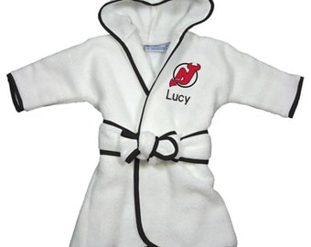Personalized New Jersey Devils Infant Robe