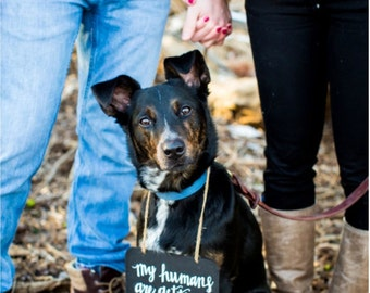 My Humans Are Getting Married Chalkboard Sign
