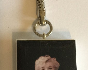 Vintage Hot Marilyn Monroe Altered Domino Key-Chain