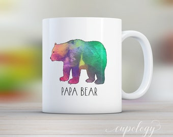 Fathers Day Gift, Papa Bear, Mug, Dad, Coffee Lover, Gift for Dad, Parents Gift, Papa, Grandpa Gift, Bear, Personalized Mug