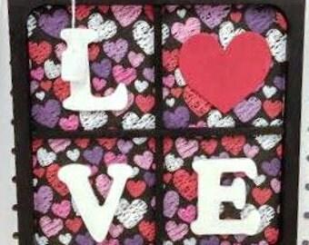 "Valentine's Day ""Love"" wood decorations"