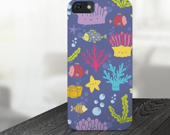 coral iphone case, cute coral iphone case, sea iphone case, ocean iphone 6s case, ocean iphone 5 case, fish iphone case, seastar iphone case