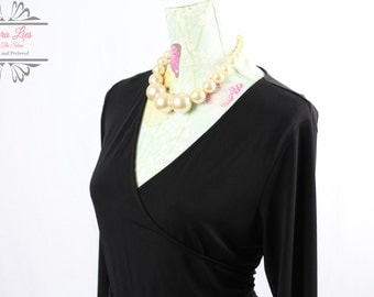 Vintage Black Wrap Dress Size M/L