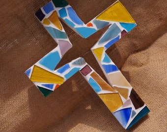 White cross of colors
