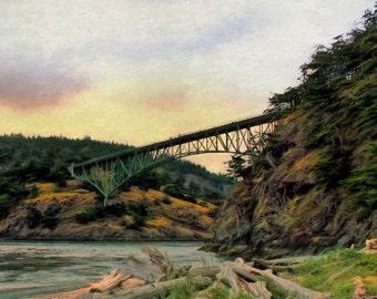 Deception Pass Bridge, Whidbey Island, Pacific Northwest, Olympic Peninsula, Olympic National Park, Washington State, Historic Bridge