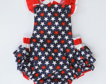 4th of July / Red White Blue / Baby Romper / Patriotic