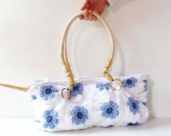 Crochet Granny Squares-woven purse