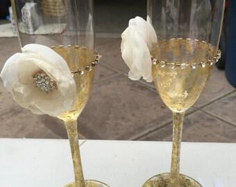 Wedding flute campagne glasses