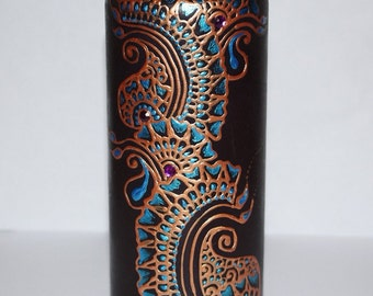 Black Henna Candle