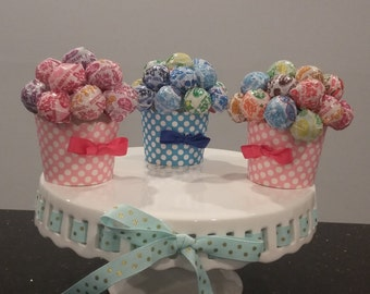 Lollipop Cupcake Favors - 1st Birthday, Communion, Birthday Party, Wedding, Bridal Shower, Baptism, Baby Shower, Mitzvah