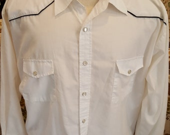 Men's West Adventure Pearl Snap Shirt, Size L