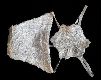 White Lace Thong