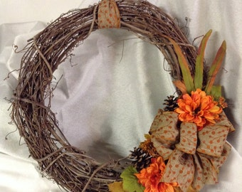 Grapevine Autumn Wreath